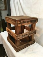 Vintage Great Bear Spring Water - 5 Gallon Crate Only Wood Stand