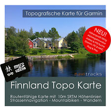Finnland Topo Karte Garmin 10m Höhenlinien 4GB microSD für Garmin Navi, PC & MAC