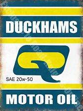 Vintage Garage, Duckhams Motor Oil, Old Advertising 39, Large Metal Tin Sign