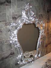 Espejo de pared Renacimiento Repro Antigua Barroco PLATA 50x76 Decoración 118