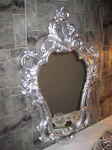 Wall Mirror Renaissance Repro Antique Baroque Silver 50X76 Decoration 118