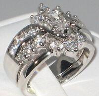 Marquise 3.86 CT. Cubic Zirconia Wedding Bridal Engagement Ring Set - SIZE 6
