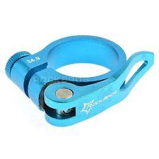 Rockbros Road Bike MTB Seatpost Seat Post Clamp Quick Release QR 34.9mm Blue
