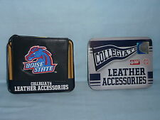 BOISE STATE BRONCOS   embroidered  Leather BiFold Wallet    NIB    black