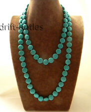 Turquoise Necklace 48'' 14mm Coin