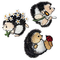 Cute Hedgehog Iron Sew on Embroidered Appliques Patches Motifs Self Adhesive