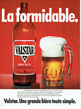Publicité Advertising 018  1979  Valstar  bière bock La formidable