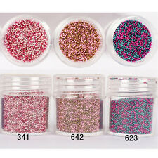 10ml UV Gel Red Nail Beads Steel Ball Manicure Nail Art 3D Decoration Tips