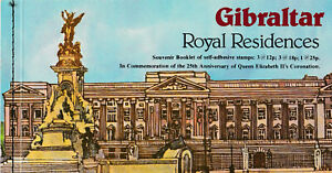 Gibraltar - Royal Residence - Booklet of Self-adhesive Stamps, Mint Condition