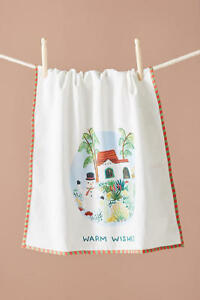 NWT Anthropologie Warm Wishes Holiday Kitchen Towel