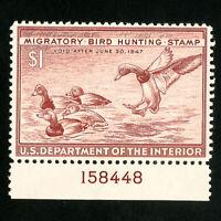 US Stamps # RW13 F-VF Plate # OG LH Scott Value $50.00