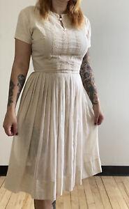 Vintage 1950s Lace Cotton Dress