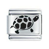 9mm Italian Charms L23 Laser Charm Turtle Tortoise Fits Classic Size Bracelet