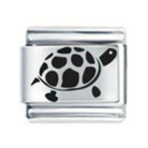 9mm Italian Charms L106 Laser Charm Turtle Tortoise Fits Classic Size Bracelet