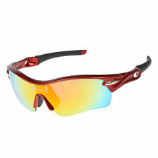 2RockBros Polarized Sunglasses Cycling Bike Sports Goggles 5 Lenses UV400 Red