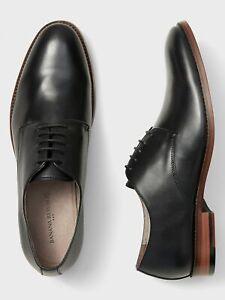 Banana Republic NEW NIB Mens Oxford Leather Dress Shoe Black $129 SZ 8.5