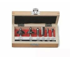 New Craftsman 6 Piece 1/4 Inch Shank Carbide Tipped Router Bit Set Model 26004