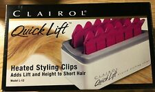 Clairol Quick Lift heated hair styling clips Adds lift and height Model L-12