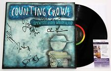 COUNTING CROWS BAND SIGNED SOMEWHERE UNDER WONDERLAND LP VINYL DURITZ +JSA COA