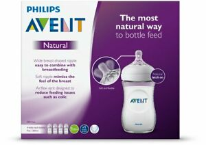 Philips Avent Natural Baby Bottle Breastfeeding Airflex vent Clear 9 Oz 4 pack