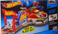 Hot Wheels City Fast Blast Car Park Holds 6 Cars (1 vehicle included) by Mattel