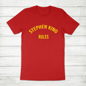 Stephen King Rules The Monster Squad Horror Movie Fan Quote Unisex Tee T-Shirt