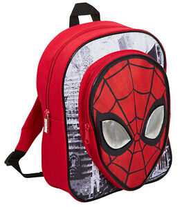 Boys Marvel Spiderman Backpack Kids Avengers School Travel Rucksack Lunch Bag