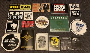 VTG Stickers LOT OF 16 VTG 90's~ HIP-HOP ~PROMO~ #10 MASTER ACE, LOOTPACK
