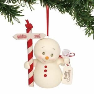 Department 56 Snowpinion Daily Choices White Red Wine Ornament 6000928
