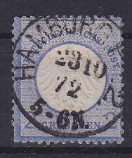 Brustschild Mi Nr. 5 VST TOP rund K1 Hamburg 23.10.1872 gest., Deutsches Reich