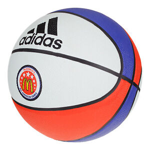 Adidas Mcdonalds All American Games Basketball Camp Ball, Sz 7 White/Blue/Orange