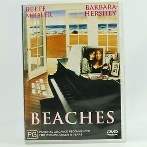 Beaches Bette Midler Barbara Hershey DVD Good Condition Free Tracked Post