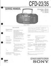 Sony Original Service Manual  für CFD-23/35