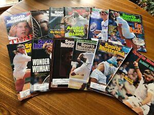 Tennis Greats Sports Illustrated Lot Borg, Lendl, Sampras, Agassi Ashe Martina