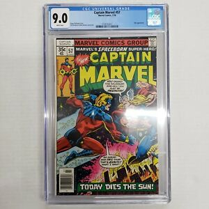 Captain Marvel #57 CGC 9.0 White Pages (Marvel 1978) Thor Appearance