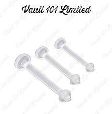 Bioflex Clear Labret, Lip, Monroe Flexible Retainer Bar Various Sizes
