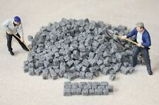 700 Pflastersteine Granit grau Spur 1 Maßstab 1:32 1:35 Diorama Zubehör Ladegut