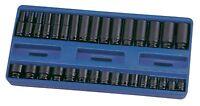 "32PC 3/8"" Drive Metric Impact Socket Set Genius Tools-CM-332M No Skipped Sizes"