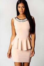 Polyester Boat Neck Patternless Sleeveless Dresses for Women