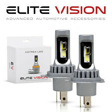 2x H4 EV Astrea Super White Cree LED Headlight Bulb for Honda High & Low Beam 6K