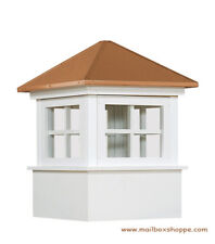 "24"" Elsworth Vinyl Window Cupola - Copper Roof - Amish made Maintenance Free"