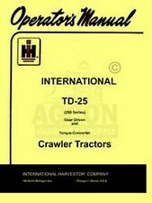 International Td-25 Crawler Gear Torqu Operators Manual