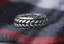 925 Sterling Silver Men's Wedding Band  Vintage Tribal Ring  Statement Jewelry