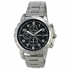 Fossil Mens Chronograph Dean Stainless Steel Bracelet Watch 45mm FS4542