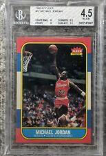 1986-87 Fleer Basketball #57 Michael Jordan RC Rookie HOF BGS 4.5 w/ 9 and 8!!!