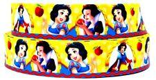 "Grosgrain Ribbon 7/8"", 1.5"" & 3"" Princess Snow White Character Printed."