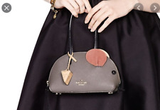 New Kate Spade Mouse with Cheese Handbag Purse Grey Small