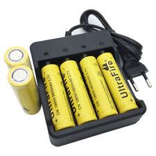 6 X Flat Top 18650 9800mAh Batería 3.7V Li-ion Rechargeable Battery& Cargador EU