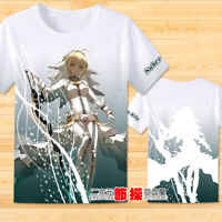 Anime Fate/EXTRA Saber Nero T-shirt Short Sleeve Otaku Unisex Tee Cosplay#2-525