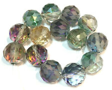 16mm Faceted Mixed Color Crystal Quartz Round Loose Beads 8PCS